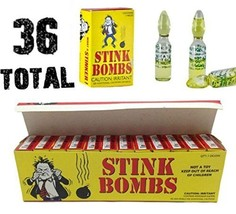 (36) Stink Bombs - Stinky Glass Gag Prank Fart Joke (1 case of 36) Novelty - $15.30