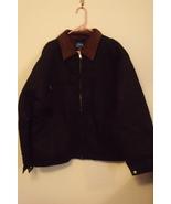 Mens Tri Mountain NWT Black Cotton Canvas Work Jacket Full Zip Size 5XL - $99.95