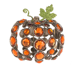 "Jewel Orange Tabletop 3.5"" Pumpkins Set of 2  from Crystal Expressions by Ganz - $39.55"