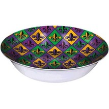 "Mardi Gras Fleur De Lis 13"" Vac Form Bowl Disposible - $5.39"
