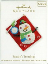 2012 Hallmark Keepsake Ornament - Seasons Treatings Snowman Baking 4th i... - $5.93