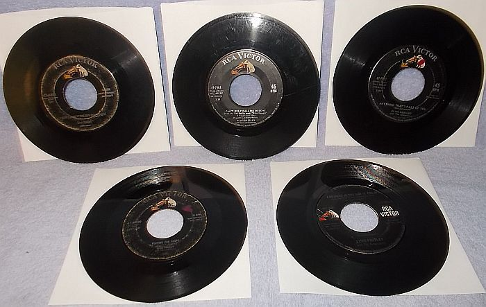 Primary image for Five 45 RPM Record Lot Elvis Presley RCA Victor Label 1950's