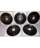 Five 45 RPM Record Lot Elvis Presley RCA Victor Label 1950's - $7.95