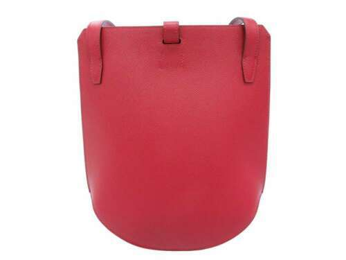 HERMES Baton de Craie 24 Veau Epsom Rouge Casaque Shoulder Bag 2017 #A Authentic image 2