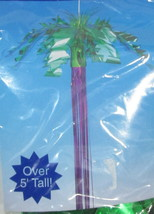 Amscan Giant Palm Tree Party Decoration 5ft Tall Foil Tropical Hanging  - $9.89