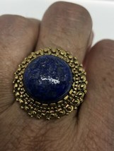 Vintage Blue Lapis Ring Bronze 10 - $94.05