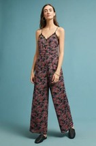 New Anthropologie Elma Lace Trim Floral Jumpsuit by Seen Worn Kept $138 ... - $57.42