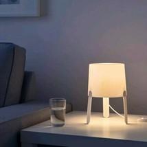 "IKEA Tvars Table Lamp White 7"" New Very Light  - $19.75"