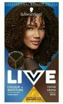 2 x Schwarzkopf LIVE Permanent Hair Dye ALL HAIR TYPES KINKY CURLY BROWN... - $25.18