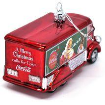 Kurt S Adler Coca-Cola & Santa Delivery Truck Hand-Crafted Glass Ornament CC4151 image 7