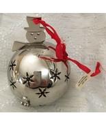 Crate and Barrel Potpourri Snowman Ornament Ball Sachet Ornament - $16.99