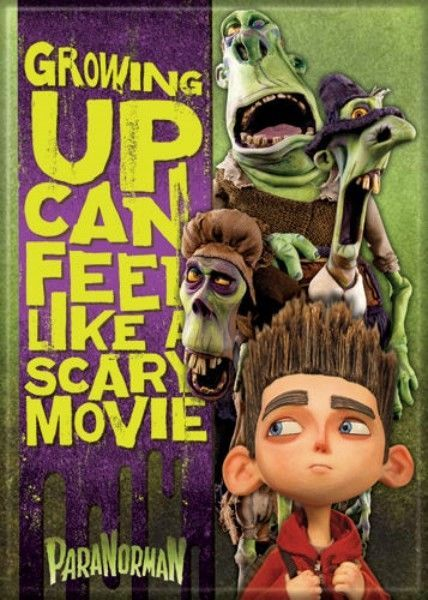 ParaNorman Animated Movie Growing Up Feels Like Scary Movie Refrigerator Magnet