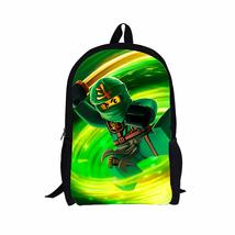 """Lego Ninjago Green Ninja Lloyd Garmadon 16"""" School Book Bag Backpack - $34.64 CAD"""