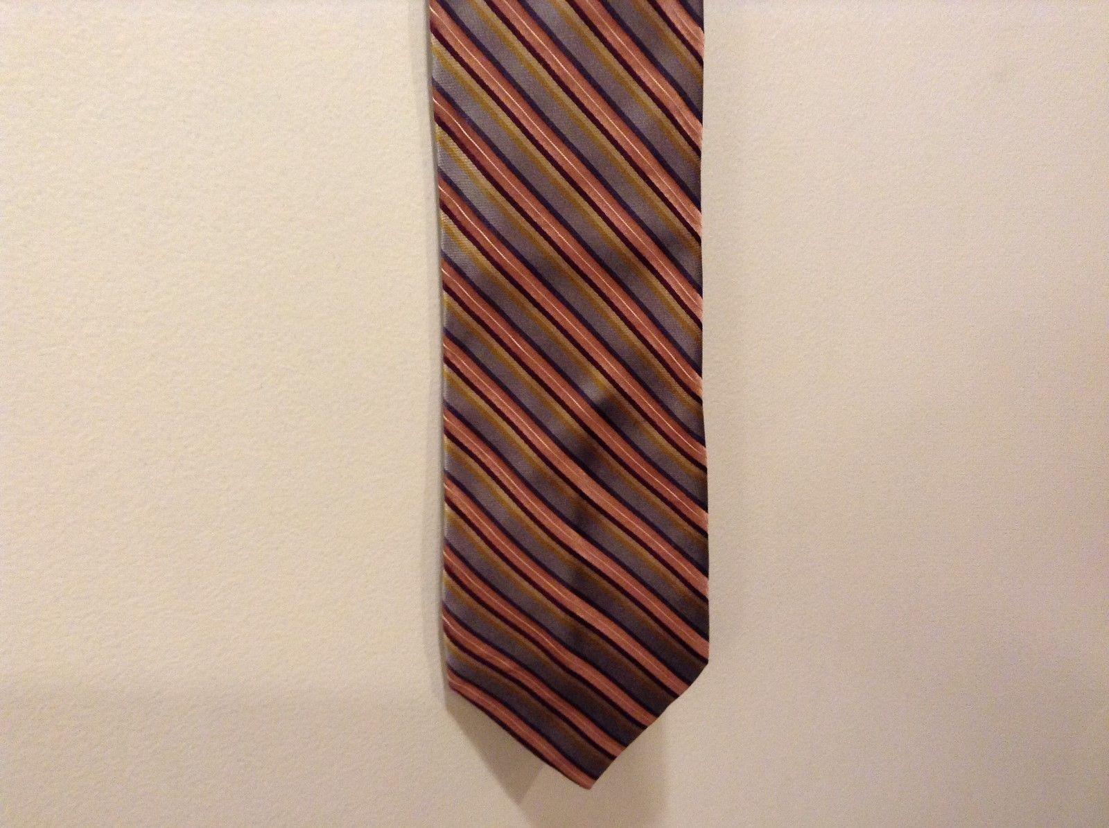 Claiborne Handmade Shiny Multicolor Silk Tie