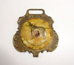 Rare Vintage Herriott Shoe Polish Collectible Brass Watch Fob St. Louis,... - $16.04