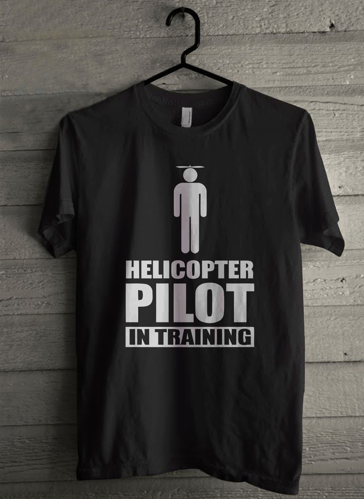 Helicopter pilot in training