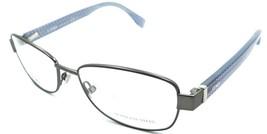 Fendi Rx Eyeglasses Frames FF 0005 7QO 53-16-135 Gunmetal Grey Blue FF Logo - $148.50