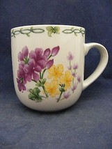 Thomson Floral Garden Mug Purple Yellow Flowers - $9.95
