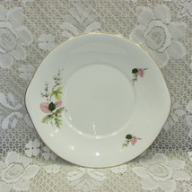 "Vintage Royal Grafton Bone China Cake Serving Plate 9.75"" Platter Handles Flower - $12.70"