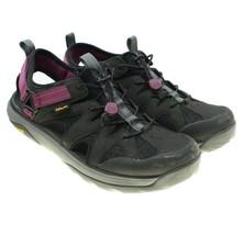 TEVA Terra-Float Womens Black Purple Active Sport Hiking Sandals Sz 10 1... - $48.50