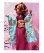 """17"""" Doll Koi Fish Print Kimono, Fish Print Lotus Flower Kimono, BJD Asia... - $50.00"""