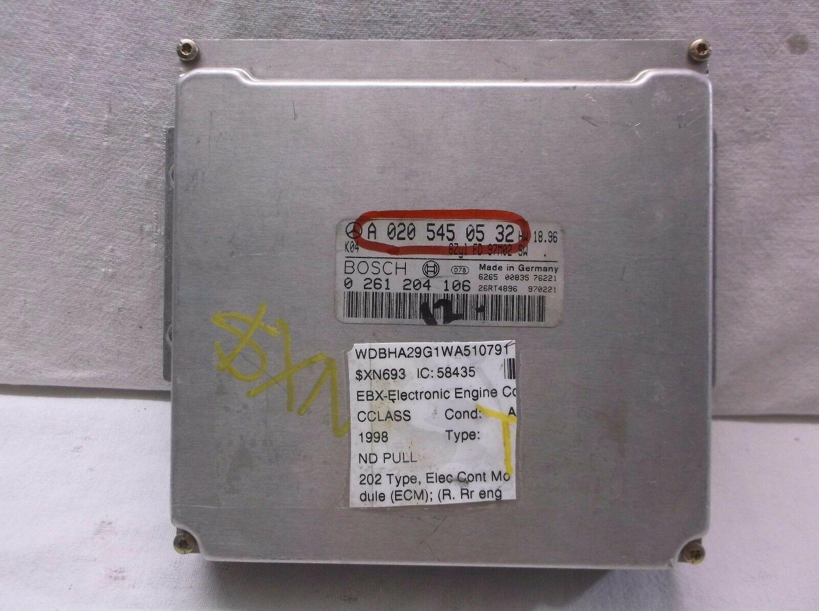 97-98 MERCEDES-BENZ C280/202 TYPE  ENGINE CONTROL MODULE/COMPUTER..ECU..ECM..PCM - $143.06