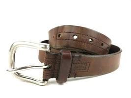 FOSSIL Brown Leather Belt Men's Size 38 Fashion Style Casual Distressed ... - $20.79