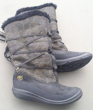 Timberland Womens Boots Black Gold Embroidered Circles Laces Warm Lining... - $973,80 MXN