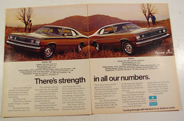 1972 Chrysler Duster & Duster 340 Strength in Numbers Print Ad with Stat... - $9.99