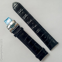 Tissot black leather strap Watchband for Visodate T019430 20mmT600029774 - $41.58
