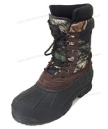 """Mens Winter Snow Boots Camouflage 10"""" Leather Waterproof Insulated Hunti... - $30.58+"""