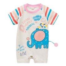 Little Elephant Toddler Bodysuit Baby Romper Infant Onesies Creep Short Sleeves