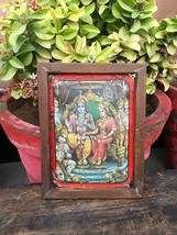 Vintage Old Original God Ram Darbar Print  Adv Tin Sign Board - $78.21