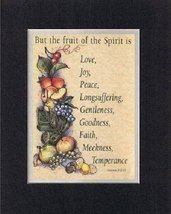 But the fruit of the spirit is . . . 8 x 10 Inches Biblical/Religious Verses set - $12.13