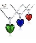 925 Sterling Silver Gemstone Pendant Necklace [PEN-117] - $18.00