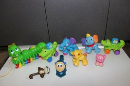 lot Fisher Price Click Clack Animals, Leap Frog Alphabet Catepiller Litt... - $24.70