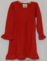 Blanks Boutique Red Long Sleeve Empire Waist Ruffle Dress Size 2T image 1