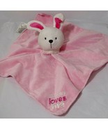 Carters Child of Mine Lovey Bunny Rattle Mommy Loves Me Security Blanket... - $14.84
