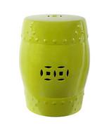 """18"""" Ceramic Garden Stool Green - 68136 - $89.09"""