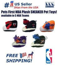Pets First NBA Plush Sneaker Pet Toy. Licensed, Durable, Heavy-Duty Rope... - $4.49
