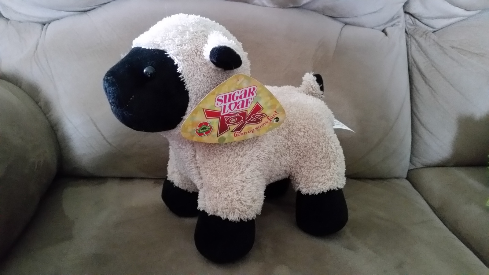 Primary image for Lamb White and Black Brand New Plush NWT Stuffed Animal w/ Tags 9""