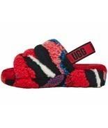 UGG Fluff Yeah Slide Red Cali Women's Faux Fur Slipper Sandals 1118164 - $97.00