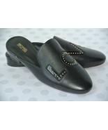 NEW Michael Kors Love Womens 6 M Black Leather Studded Slip On Flats Mul... - $49.49