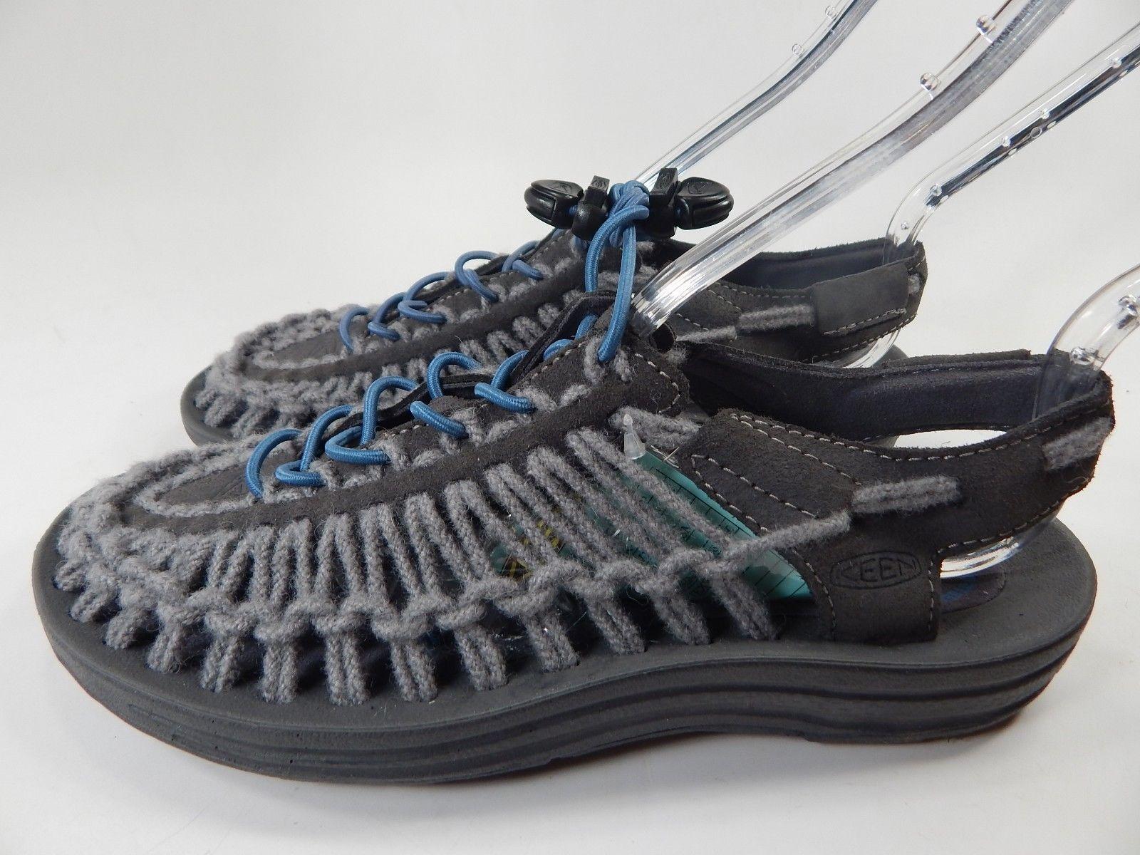 Keen Uneek Leather Women's Sport Sandals Size US 7 M (B) EU 37.5 Magnet / Blue