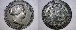 1859 Spanish 25 Centimos World Coin - Spain - Isabel II - $59.99