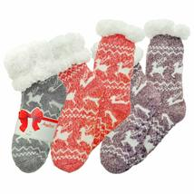 Angelina Women's 3 Pack Christmas Sherpa Lined Thermal Socks with Gift Tags image 9