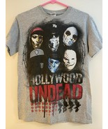 HOLLYWOOD UNDEAD Vintage Rap Metal Rock Music Star Gray T-Shirt - Adult ... - $9.85