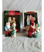 Hallmark Keepsake Ornaments Mr & Mrs Claus collector series 1990s Lot of 2  - $9.89