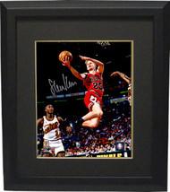 Steve Kerr signed Chicago Bulls Lay Up Action 8x10 Photo Custom Framed- Schwartz - $109.95