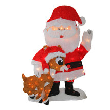 """32"""" Lighted Waving Santa Claus and Rudolph Christmas Outdoor Decoration - €71,83 EUR"""